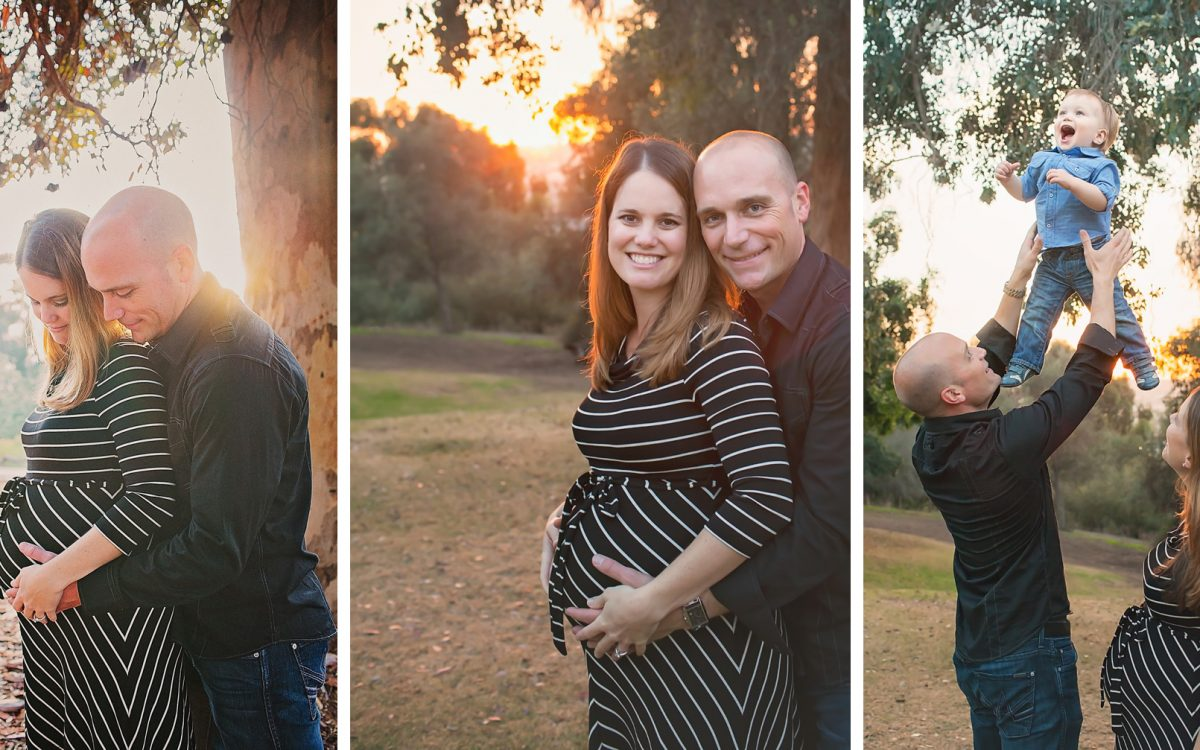 San Diego Maternity Lifestyle Photographer:  Adorable Family at Presidio Park