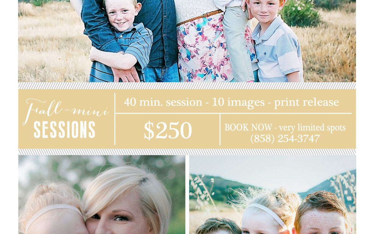 San Diego Family Photographer:  Holiday Mini-Sessions for Families (UPDATE:  ALL BOOKED UP!)