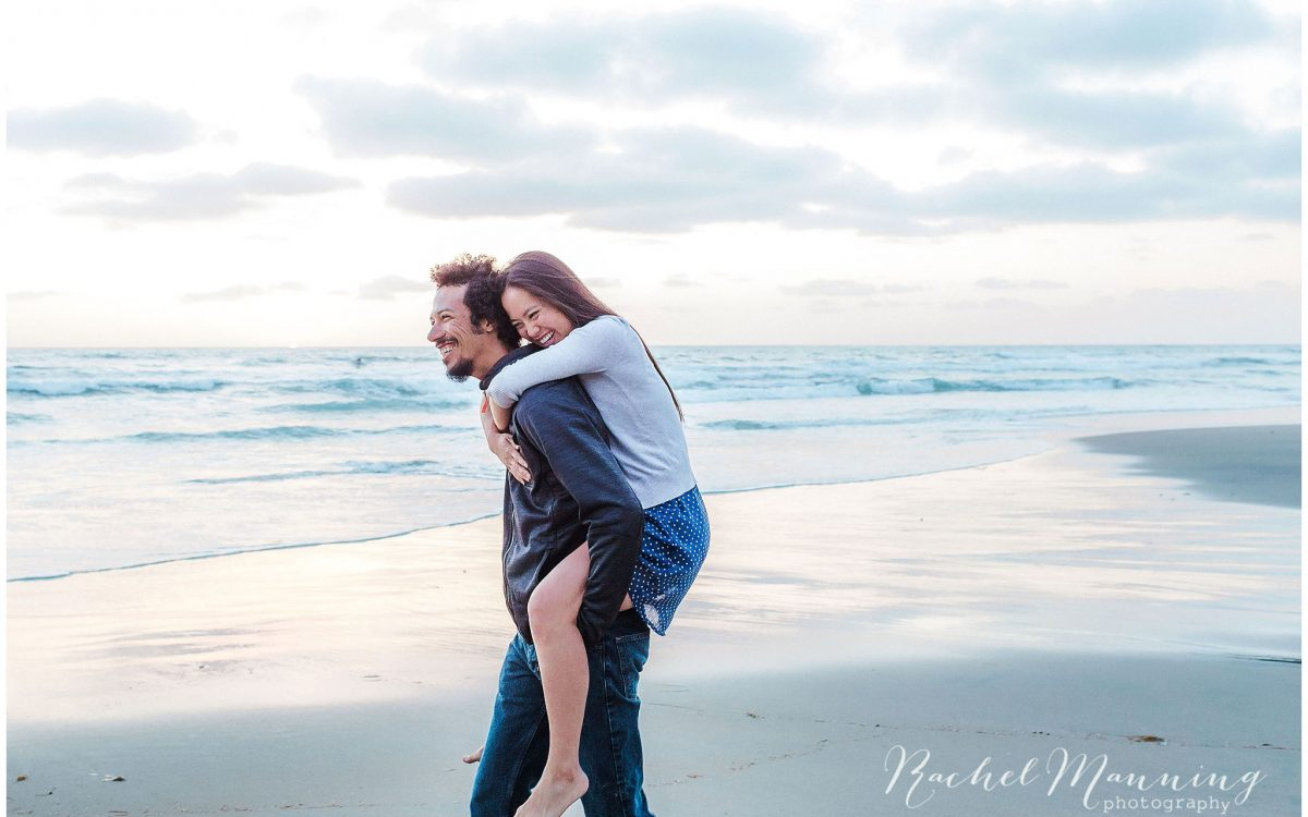 San Diego Lifestyle Photography - Sweet & Playful Engagement Session at Cedros Design District & Fletcher Cove Beach, Solana Beach