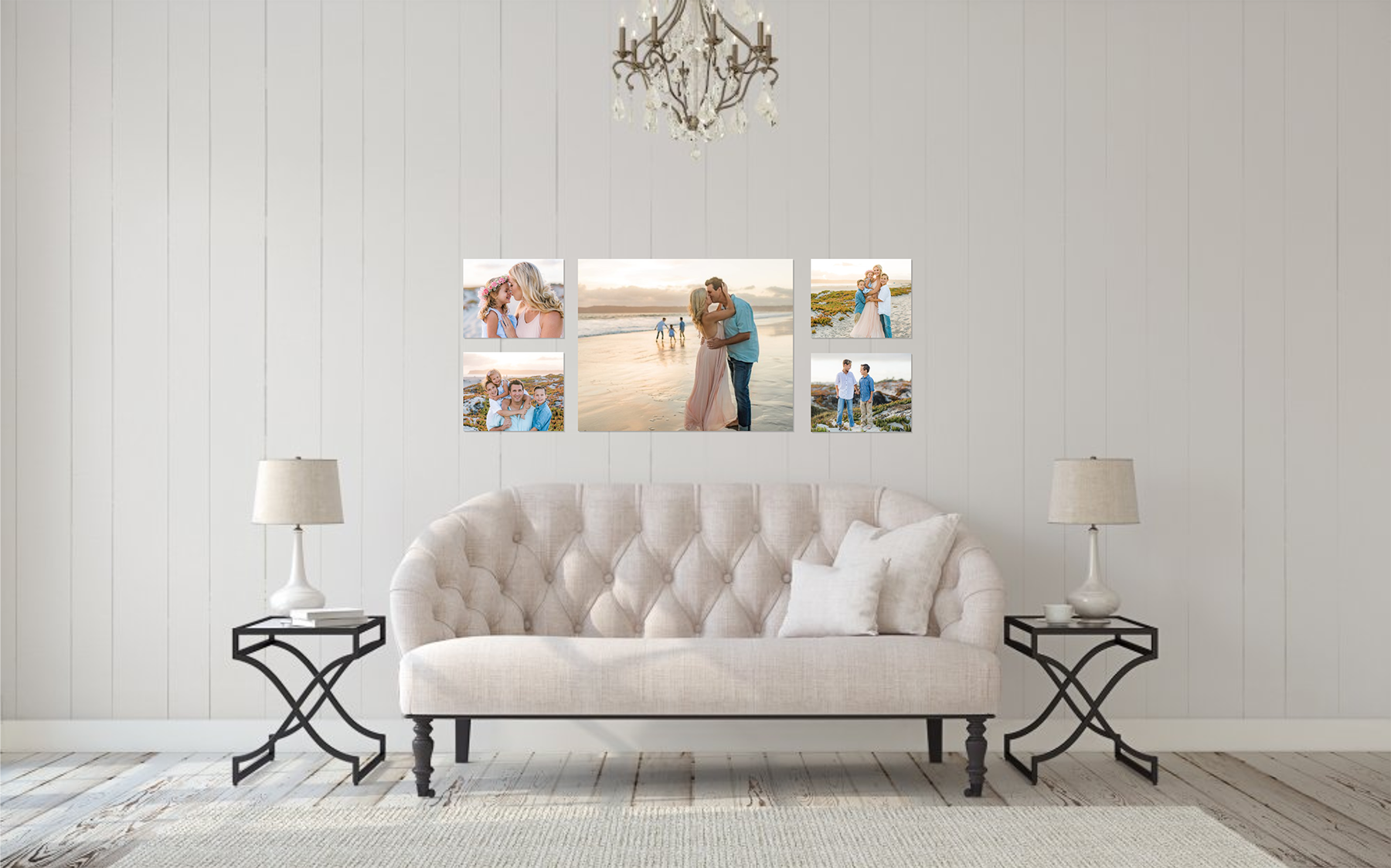 custom canvas wall gallery by rachel manning photography