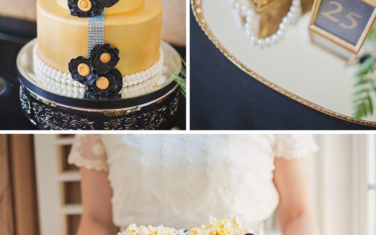 Featured on 100 Layer Cake Blog:  Great Gatsby Roaring mid-20's Birthday Party