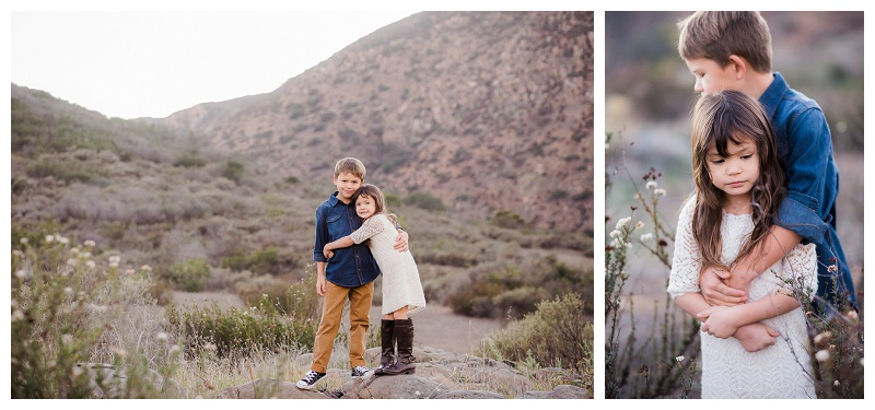 San Diego Family Photographer I Siblings photo session at Mission Trails