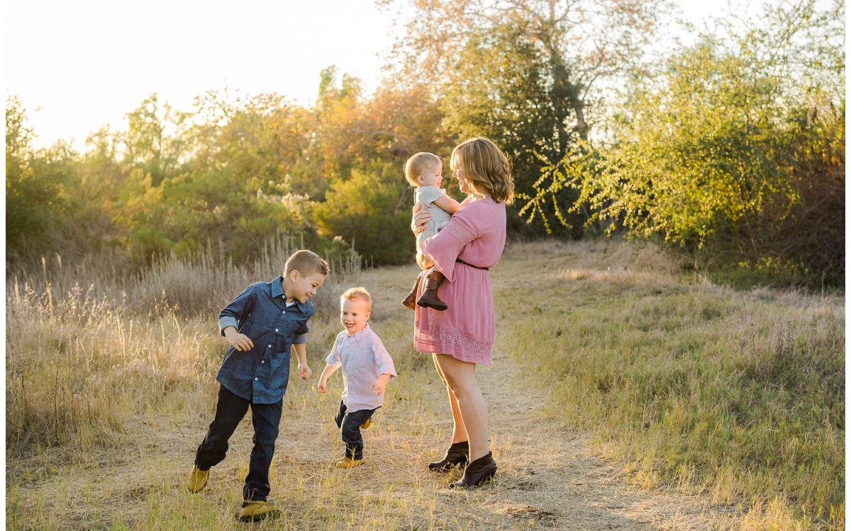 San Diego Mommy and Me Portrait Session in the Fall Setting of Rancho Penasquitos Canyon - Rachel Manning Photography