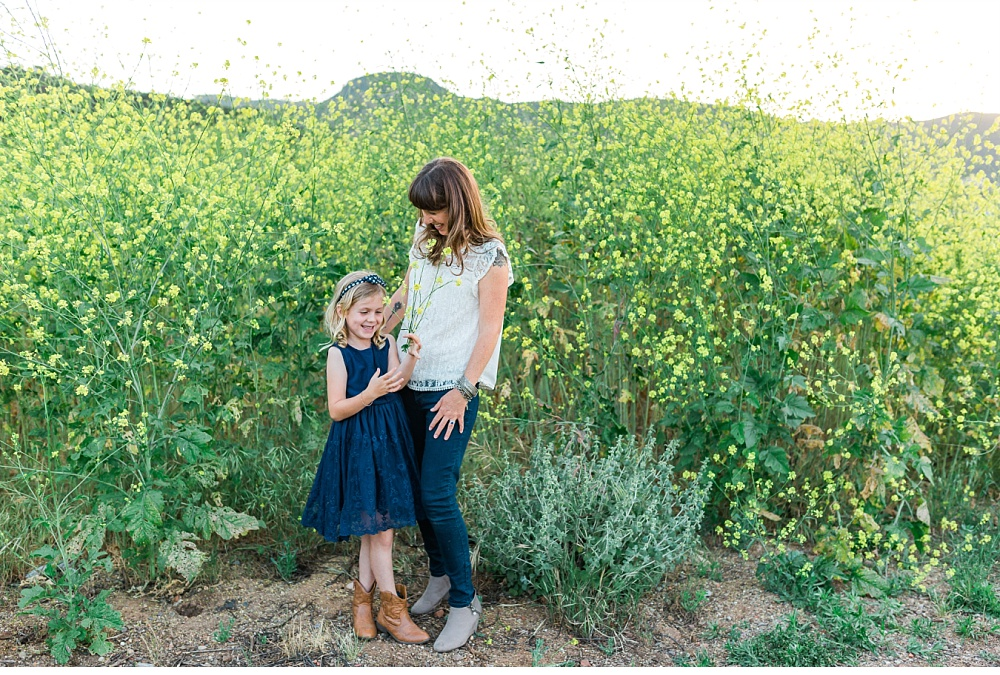 San Diego Family Portrait Photographer - Natural Light Springtime Wildflowers Family Portrait Session